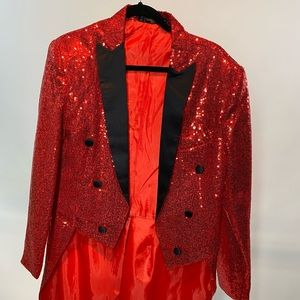 Other - Red Sequin Party Blazer